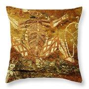 Australia Ancient Aboriginal Art 1 Throw Pillow