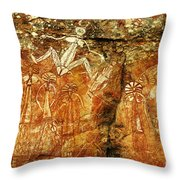 Australia Ancient Aboriginal Art 2 Throw Pillow