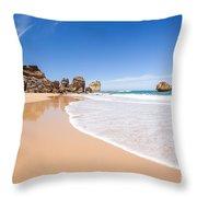 Australian Beach Throw Pillow