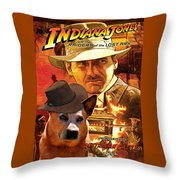 Australian Cattle Dog Art Canvas Print - Indiana Jones Movie Poster Throw Pillow