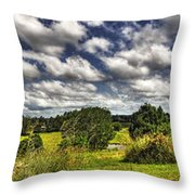 Australian Countryside - Floating Clouds Collage Throw Pillow