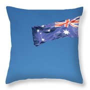 Australian Flag Outdoors Throw Pillow