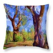 Australian Native Tree 2 Throw Pillow