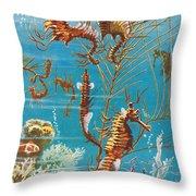 Australian Seahorses Throw Pillow