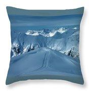 Austria Mountain Ischgl Throw Pillow