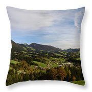 Austrian Autumn Scenic Panorama 2 Throw Pillow
