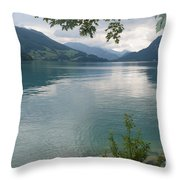 Austrian Lake Throw Pillow