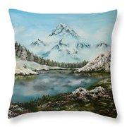 Austrian Lake Throw Pillow