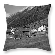 Austrian Village Monochrome Throw Pillow