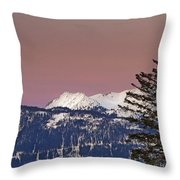 Austrian Winter Scenic Panorama Throw Pillow