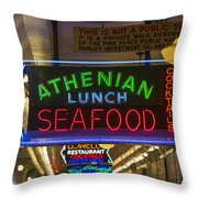 Authentic Lunch Seafood Throw Pillow