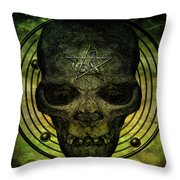 Authentic Skull Of The Vampire Callicantzaros Throw Pillow