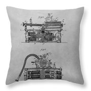 Authentic Thomas Edison Phonograph Patent Throw Pillow