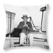 Author Booth Tarkington Throw Pillow