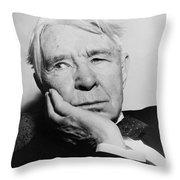 Author Carl Sandburg Throw Pillow