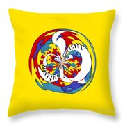Autism Orb Throw Pillow