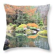 Autumn Lakeside Throw Pillow