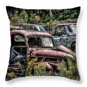 Auto Junk Yard Throw Pillow