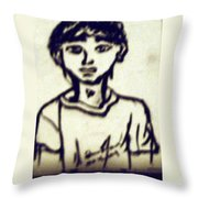 Autographed Drawing Throw Pillow