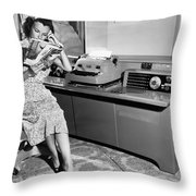 Automatic Typewriter Throw Pillow