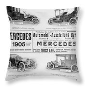 Automobile Ad, 1905 Throw Pillow
