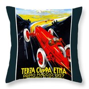 Automobile Club Catania Throw Pillow