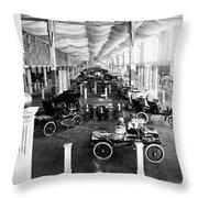 Automobile Display, 1904 Throw Pillow