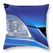 Automobile Head Light Blue Car Throw Pillow