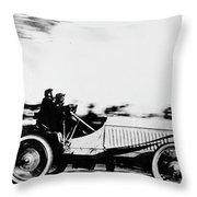 Automobile Racing, 1905 Throw Pillow