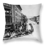 Automobile Transportationa Row Throw Pillow