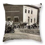 Automobiles, 1906 Throw Pillow