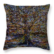 Autum In Central Park Throw Pillow