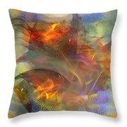 Autumn Ablaze - Square Version Throw Pillow