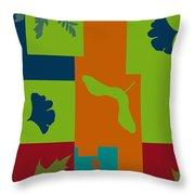 Autumn Abstract A La Matisse Throw Pillow