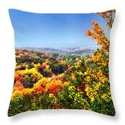 Autumn Across The Hills Throw Pillow