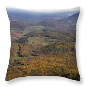 Autumn Across The Shenandoah Throw Pillow