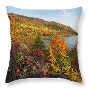 Autumn Along The Hudson Throw Pillow