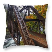 Autumn And Iron Throw Pillow