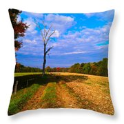 Autumn And The Tree Throw Pillow