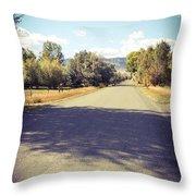 Autumn Arrives At Bartlett Lane Throw Pillow