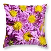 Autumn Aster Throw Pillow