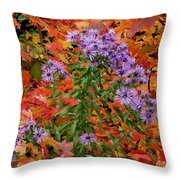 Autumn Asters Throw Pillow
