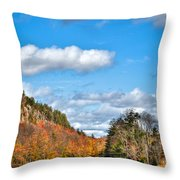 Autumn At Bald Mountain Pond Throw Pillow