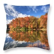 Autumn At Boley Lake Throw Pillow by Jaki Miller