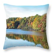 Autumn At Durand Throw Pillow