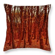 Autumn At Formby Woods  Throw Pillow