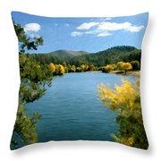 Autumn At Lynx Lake Throw Pillow by Kurt Van Wagner