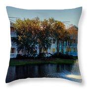 Autumn At Old Key West Resort Panorama Walt Disney World Throw Pillow