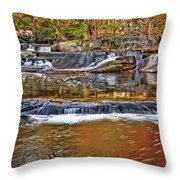 Autumn At Olmsted Falls Throw Pillow