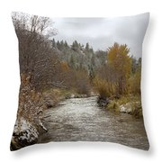 Autumn At Prickly Pear Creek Throw Pillow